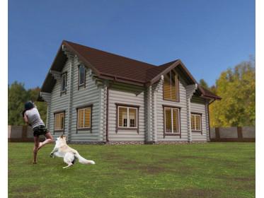 Рубленый дом 3