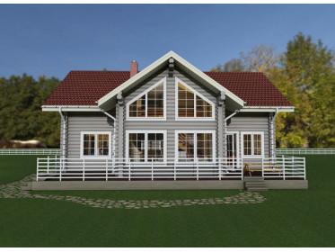 Рубленый дом 11