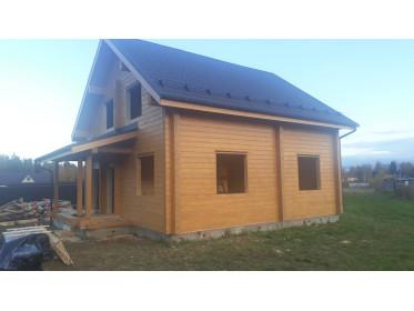 """Окончание постройки дома из бруса по проекту """"Семёновское"""""""