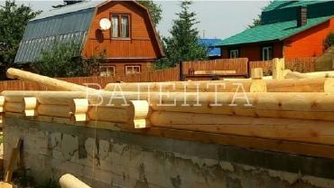 Дом из бревна Темьянь