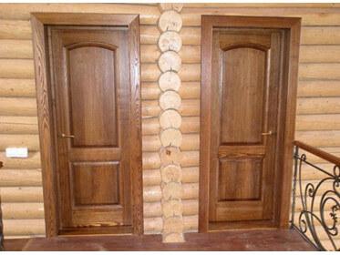 Деревянная дверь в доме из бруса – масло масляное?