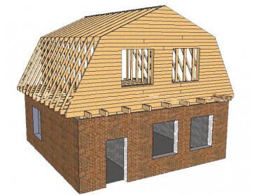 Скатный тип крыши для брусовых домов