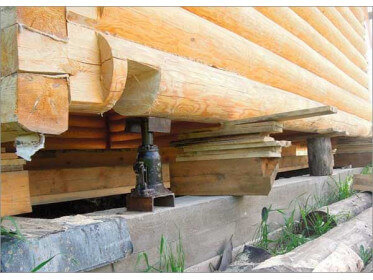 Устройство и замена фундамента деревянного дома